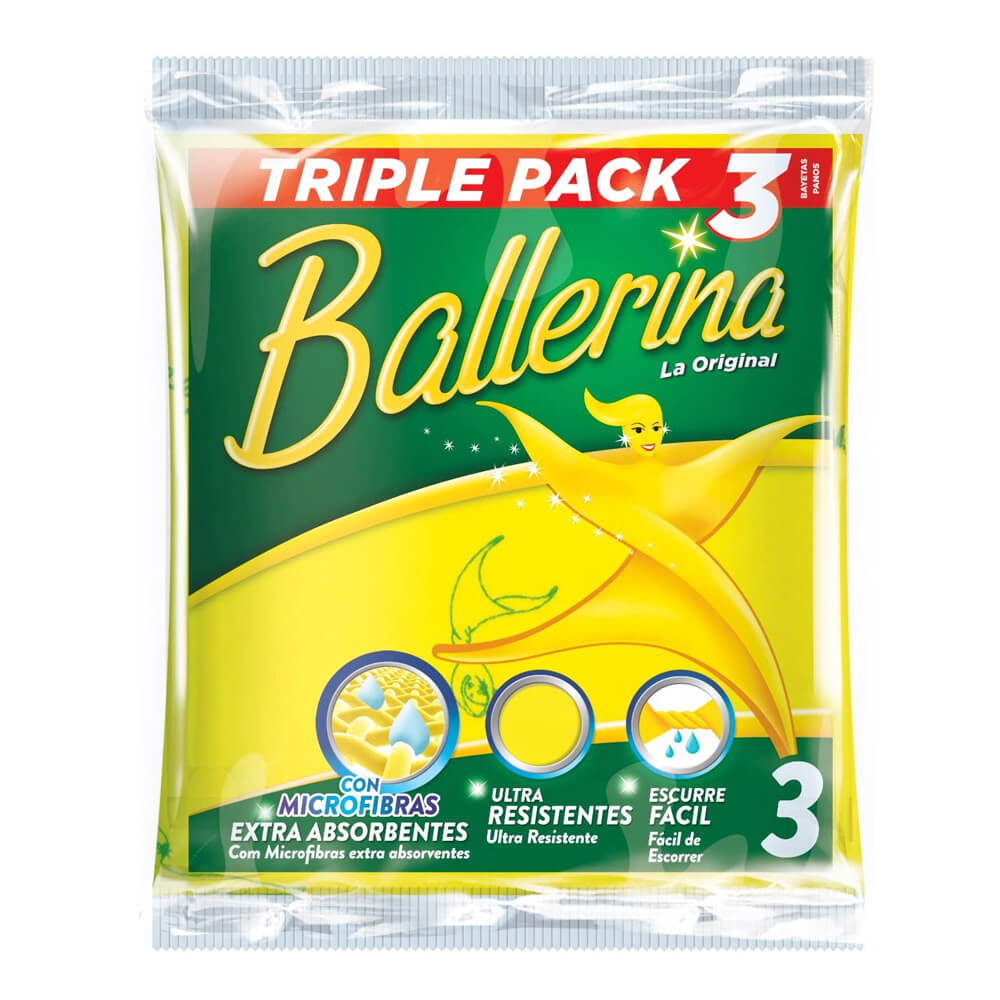 Bayetas Ballarina 3un