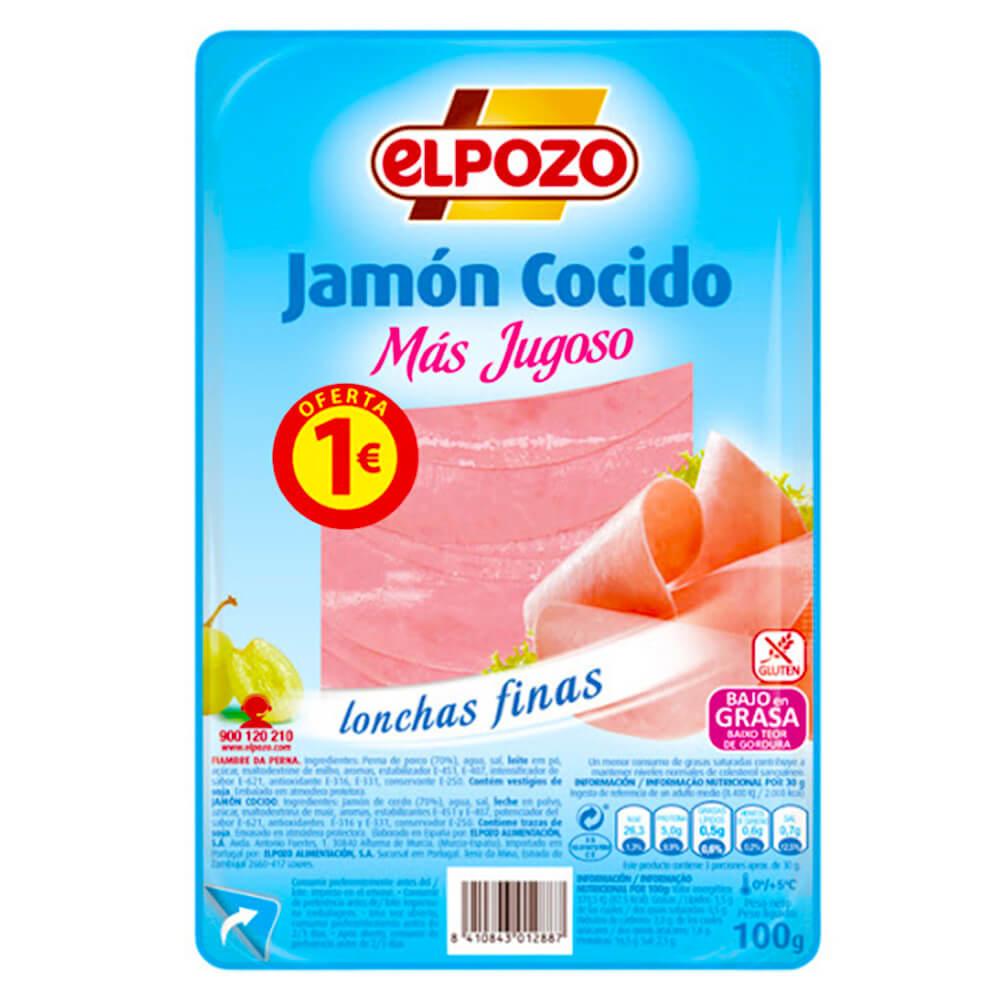Jamon Cocido El Pozo 100g