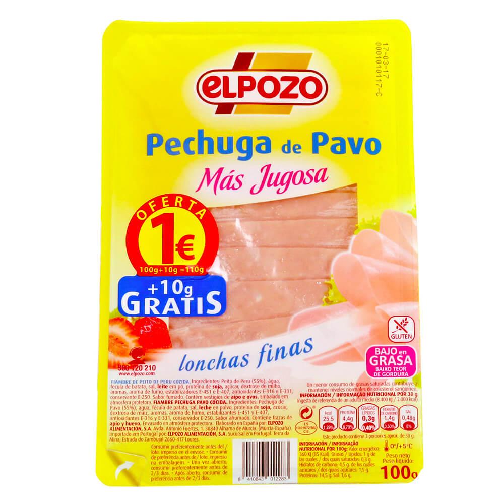 Pechuga Pavo El Pozo 100g