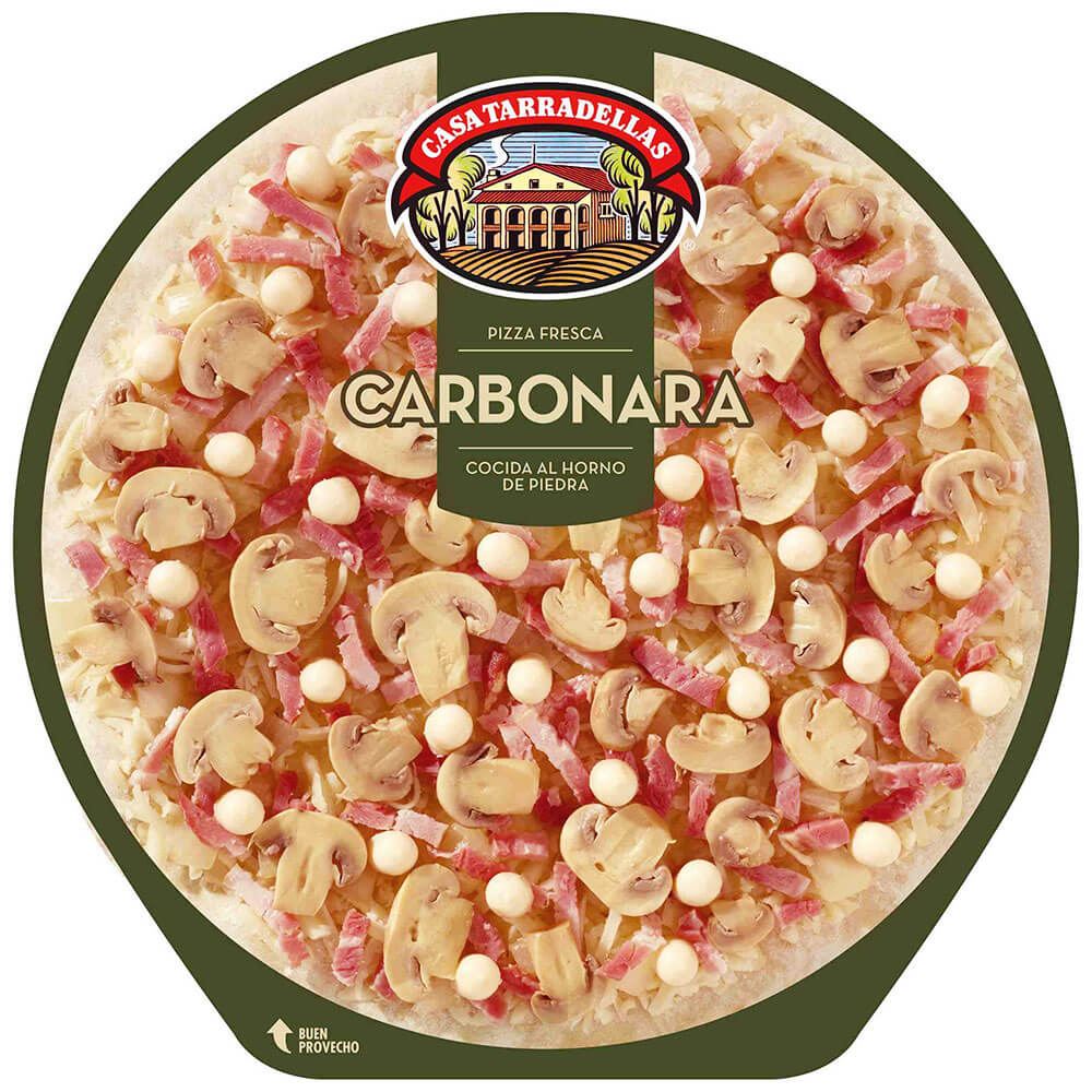 Pizza Tarradella Carbonara