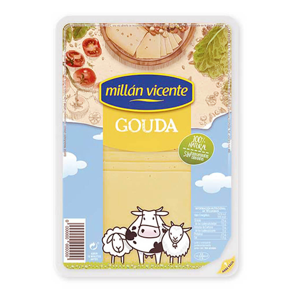 Queso Gouda Milln Vicent Lonchas 100g